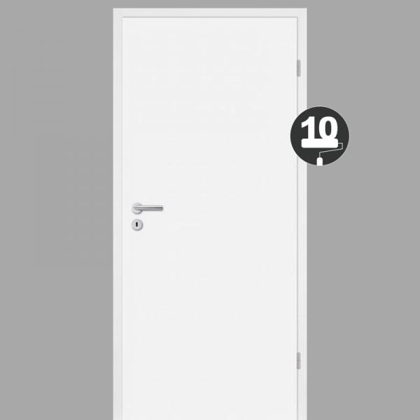Weißlacklack 10 Zimmertür / Innentür Weiss CPL  RAL 9010