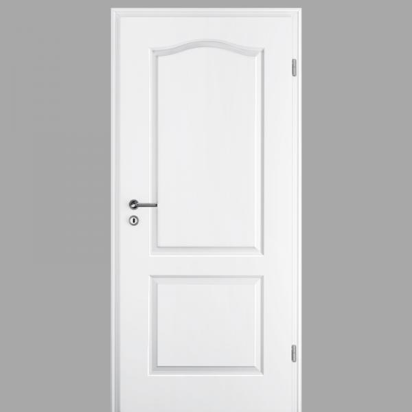 Elegance 02-B Landhaustür / Stiltür mit Zarge RAL 9010 CPL Weißlack