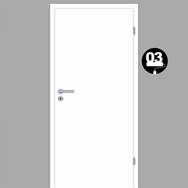 Weißlack 03 Zimmertür / Innentür Weiß CPL RAL 9003 mit Zarge