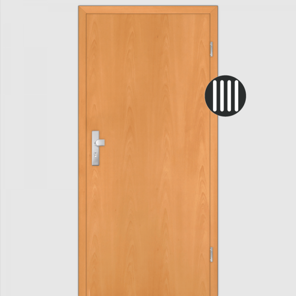 Buche  Wohnungstüren / Schallschutztüren mit Zarge Dekor Maserung Aufrecht