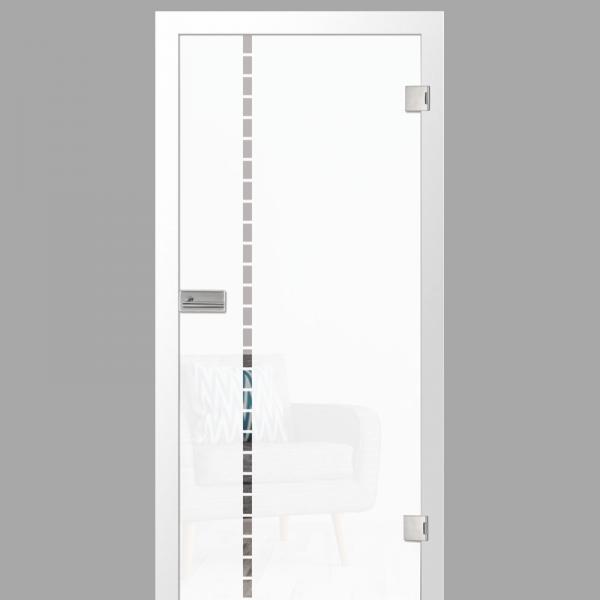 algo Motiv klar - Ganzglastüren / Glastüren mit Zarge Komplettset - Erkelenz