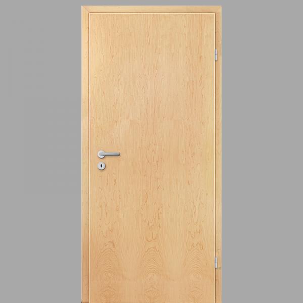 Ahorn Echtholzfunierte Innentür / Zimmertür Furnier mit Zarge