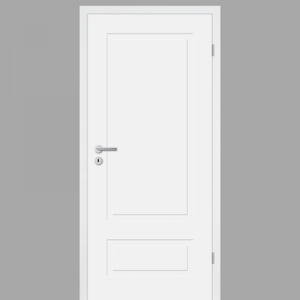 Cala 02 - Q Landhaustür / Stiltür mit Zarge RAL 9010 CPL Weißlack