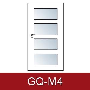 Lichtausschnitt für Zimmertüren Gq-m4