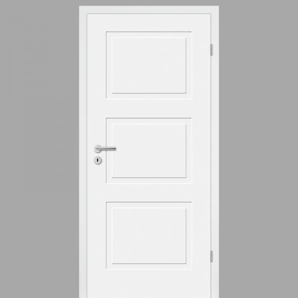Cala 03 Landhaustür / Stiltür mit Zarge RAL 9003 CPL Weißlack