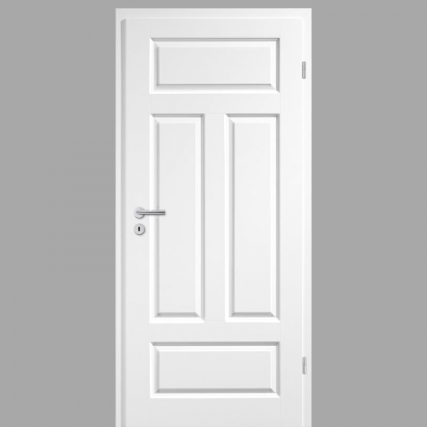 Elegance 04-Q Landhaustür / Stiltür RAL 9010 CPL Weißlack