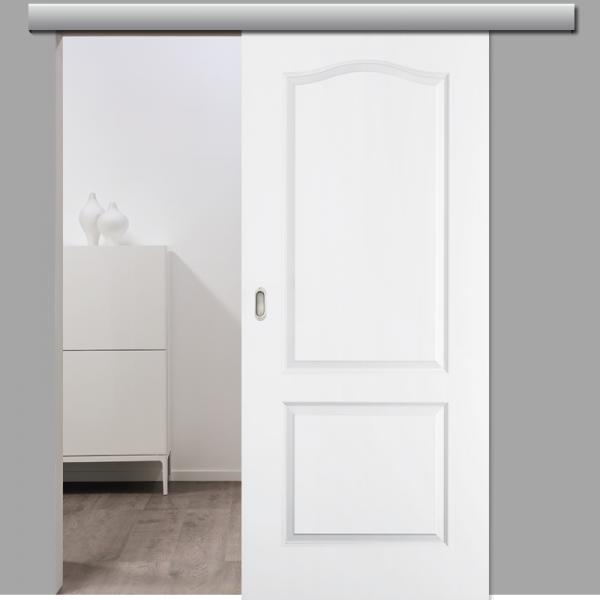 Elegance 02-B Schiebetür inkl. Softclose & Türdämpfer Landhaustür RAL 9010