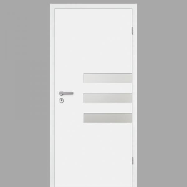 Pura 03 Zimmertür / Innentür RAL 9010 CPL Weißlack - Designtür mit Verglasung