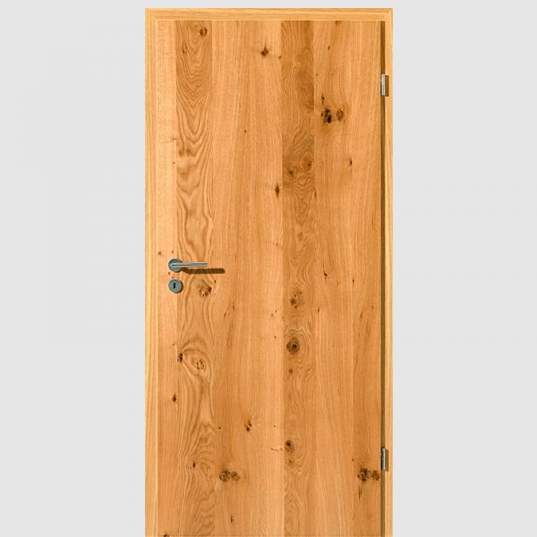 Asteiche Echtholzfunierte Innentür / Zimmertür Furnier mit Zarge - Lebolit