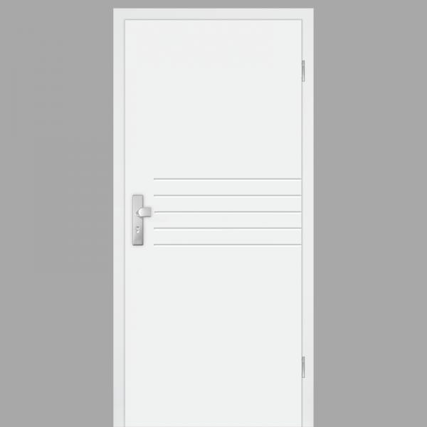 Mala 06 Wohnungstüren / Schallschutztüren mit Zarge CPL RAL 9010