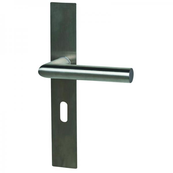Ronny II Square Plano - LS - Edelstahl - Türdrücker / Langschildbeschlag - Südmetall GmbH