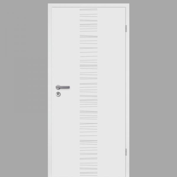 Mala 14 Zimmertür / Innentür RAL 9010 mit Zarge CPL Weißlack
