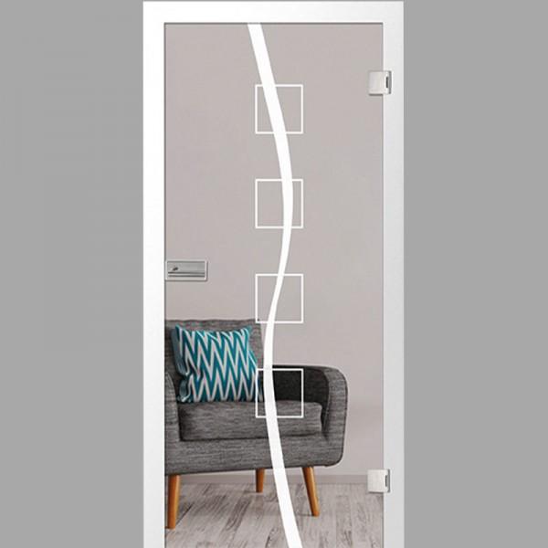 catania Motiv klar - Ganzglastüren / Glastüren mit Zarge Komplettset - Erkelenz