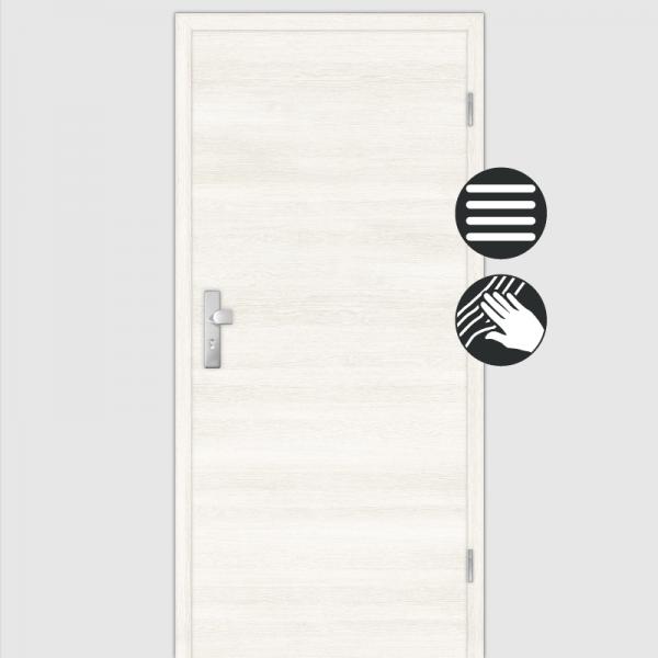 Lärche Weiß Wohnungstüren / Schallschutztüren mit Zarge CPL Maserung Quer