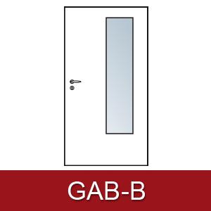 Lichtausschnitt für Zimmertüren Gab-B