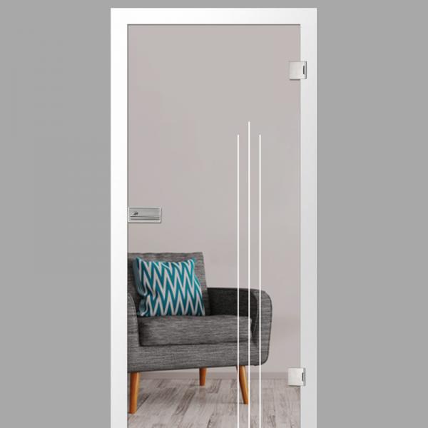 vertigo Motiv matt - Ganzglastüren / Glastüren mit Zarge Komplettset - Erkelenz