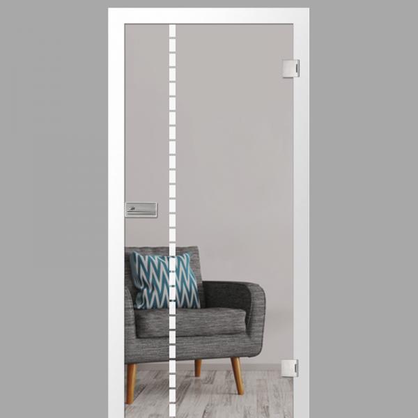 algo Motiv matt - Ganzglastüren / Glastüren mit Zarge Komplettset - Erkelenz
