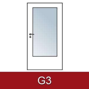 Lichtausschnitt für Zimmertüren G3