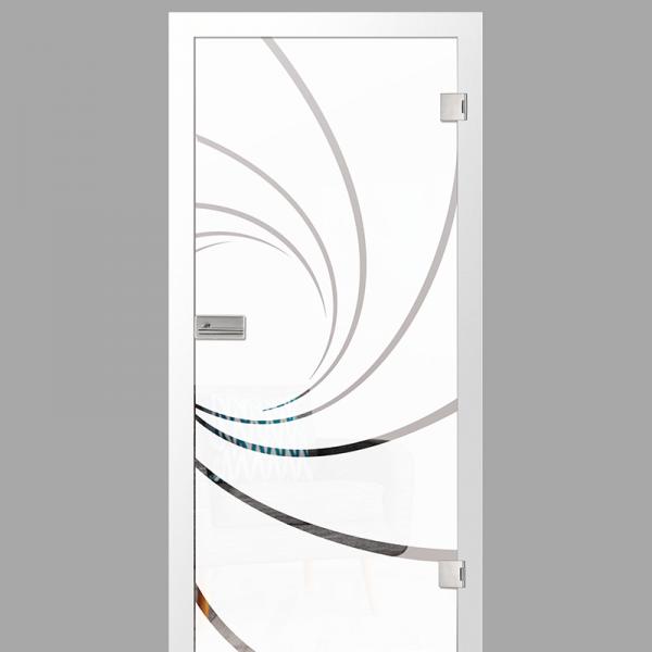 cristall Motiv klar - Ganzglastüren / Glastüren mit Zarge Komplettset - Erkelenz