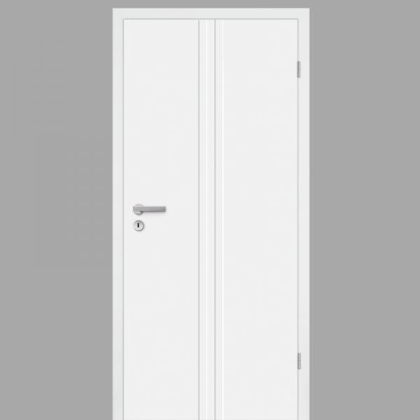 Pura 02 Zimmertür / Innentür RAL 9010 mit Zarge CPL Weißlack