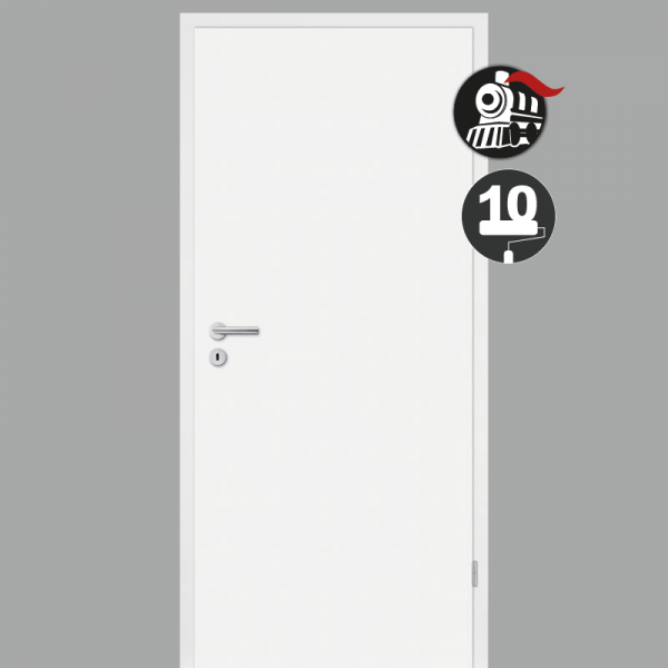 Zimmertür / Innentür Weiss RAL 9010 mit Zarge CPL Weißlack