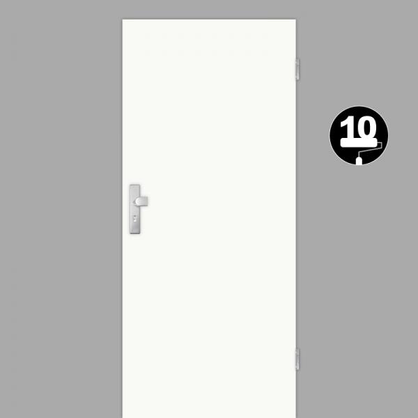 Weißlack Wohnungstüren / Schallschutztüren Dekor RAL 9010 Weißlack
