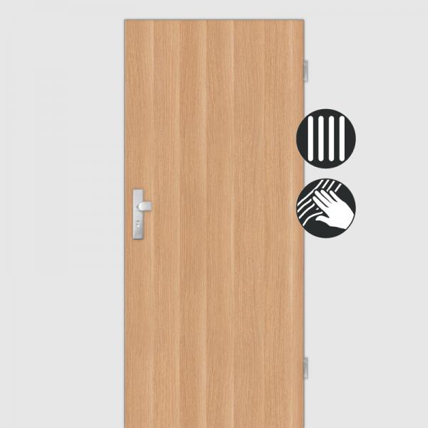 Eiche Natur Wohnungstüren / Schallschutztüren CPL Maserung Aufrecht