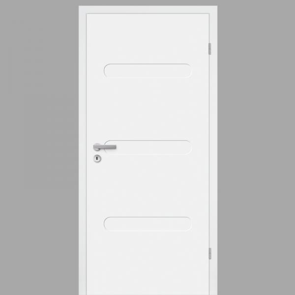 Pura 01 Zimmertür / Innentür RAL 9010 CPL Weißlack - Designtür