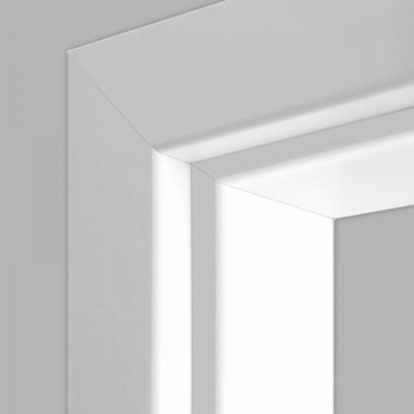 Weißlack 03 Durchgangszarge - CPL RAL 9003 RK 60 gerade Rundkante