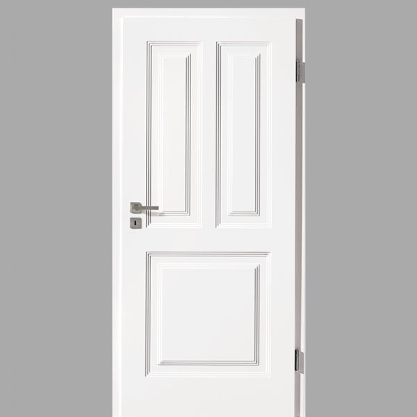 Finesse 31 Landhaustür / Stiltür mit Zarge RAL 9016 CPL Weißlack
