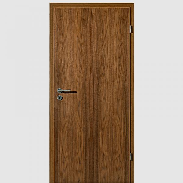 Nussbaum Echtholzfurnierte Innentür / Zimmertür Furnier mit Zarge - Lebo