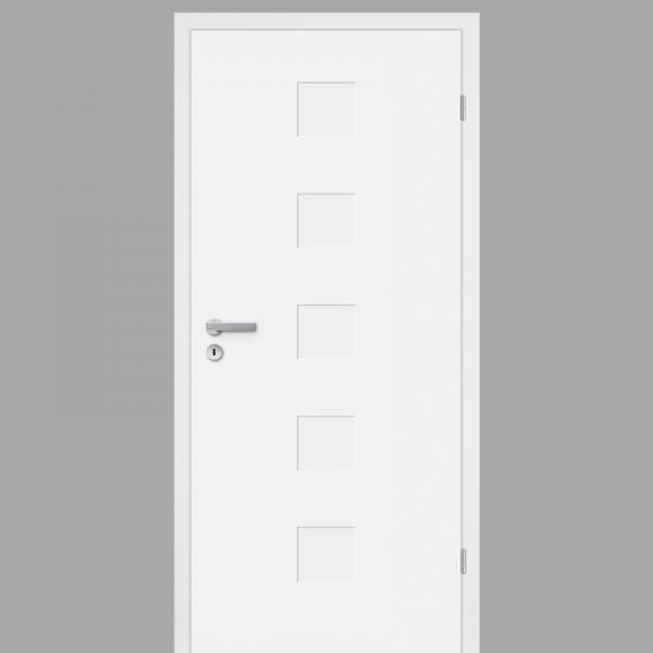 Pura 04 Zimmertür / Innentür RAL 9010 mit Zarge Weißlack