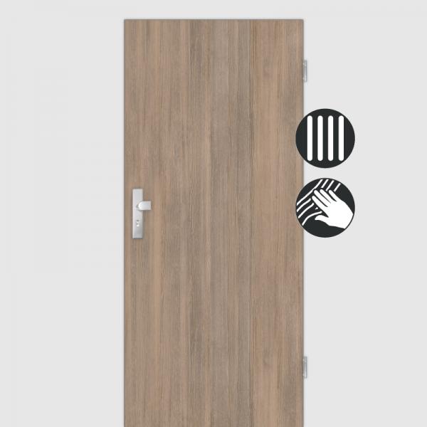 Lärche Tabak Wohnungstüren / Schallschutztüren CPL Maserung Aufrecht