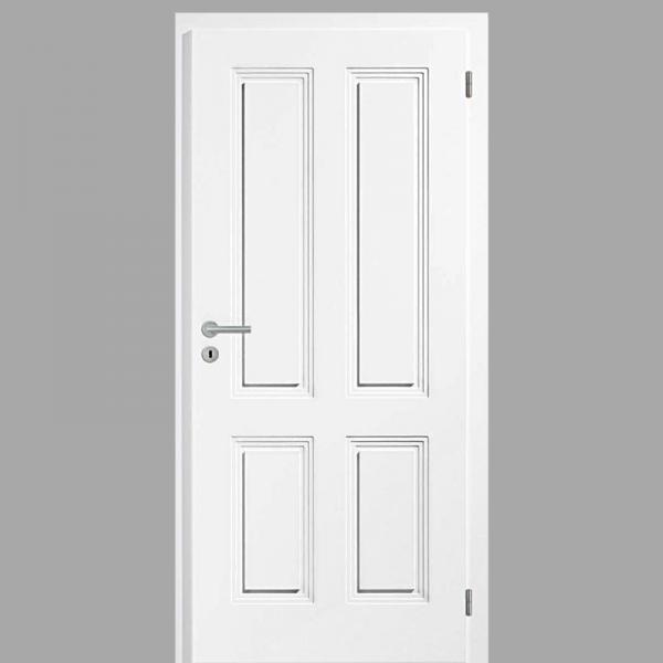 Sensa 04 Landhaustür / Stiltür mit Zarge RAL 9010 CPL Weißlack