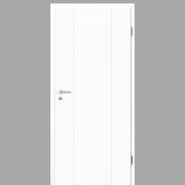 Gap 09 Zimmertür / Innentür RAL 9016 mit Zarge CPL Weißlack - Lebolit