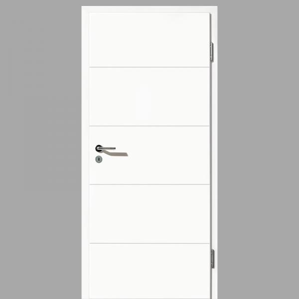 Gap 01 Zimmertür / Innentür RAL 9016 mit Zarge CPL Weißlack - Lebolit