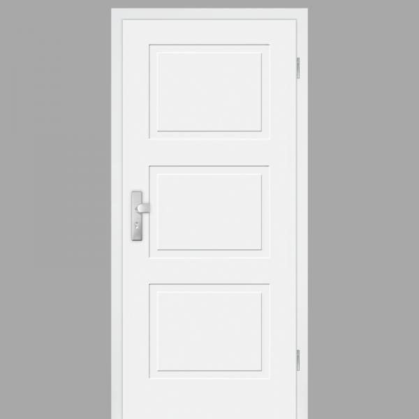 Cala 03 Wohnungstüren / Schallschutztüren mit Zarge CPL RAL 9010
