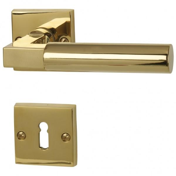 Alaska Square - R Robusta Gold - Türdrücker / Rosettengarnitur - Südmetall