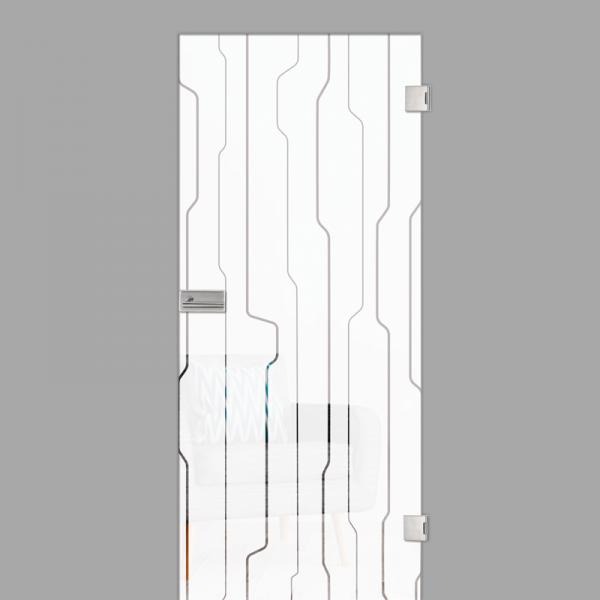 curves Motiv klar - Ganzglastür / Glastür - Erkelenz