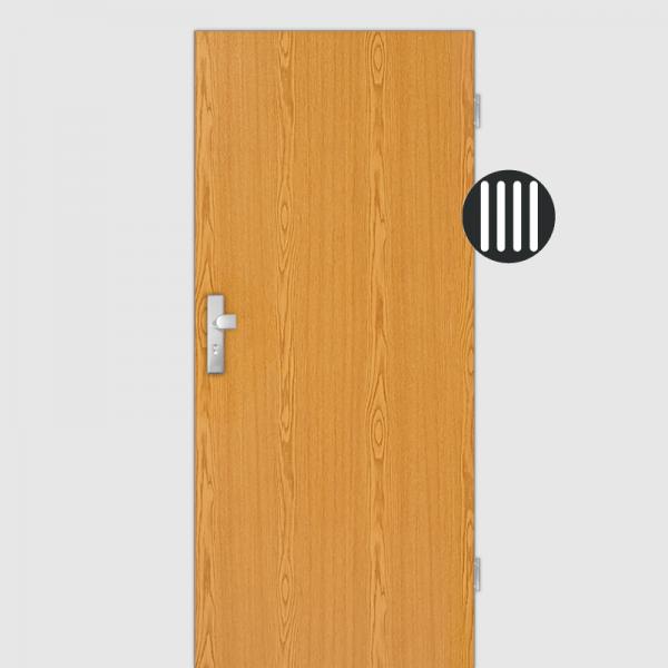 Eiche hell Wohnungstüren / Schallschutztüren Dekor Maserung Aufrecht