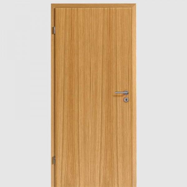 Weißeiche Echtholzfurnierte Innentür / Zimmertür Furnier mit Zarge - Lebo