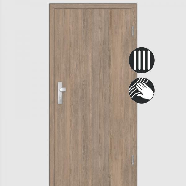Lärche Tabak Wohnungstüren / Schallschutztüren mit Zarge CPL Maserung Aufrecht