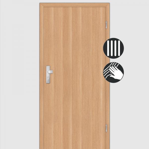Eiche Natur  Wohnungstüren / Schallschutztüren mit Zarge CPL Maserung Aufrecht
