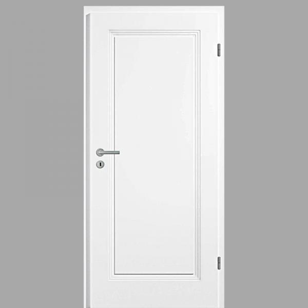 Sensa 01 Landhaustür / Stiltür mit Zarge RAL 9010 CPL Weißlack