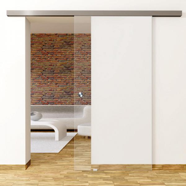 Klarglas - Glasschiebetür - Set Komplett mit Softclose & Griff - Erkelenz Glas GmbH