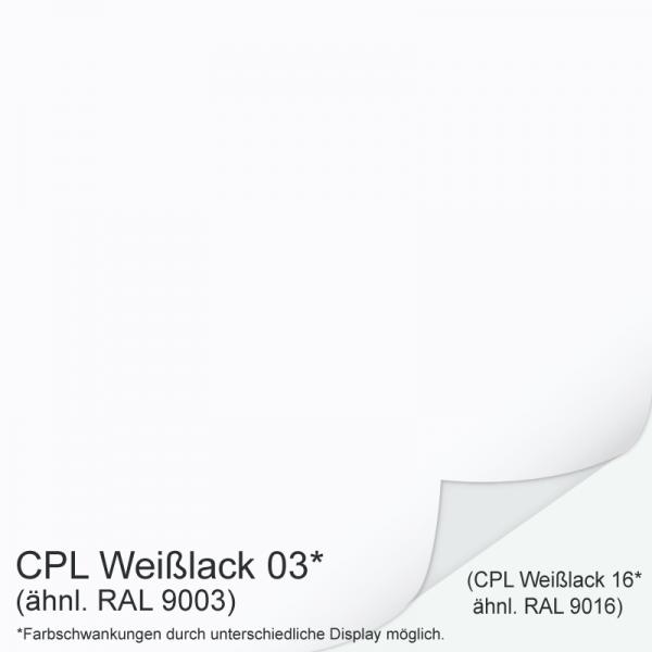 Weißlack 03 Mustertafel für Zimmertüren & Türzargen CPL RAL 9003