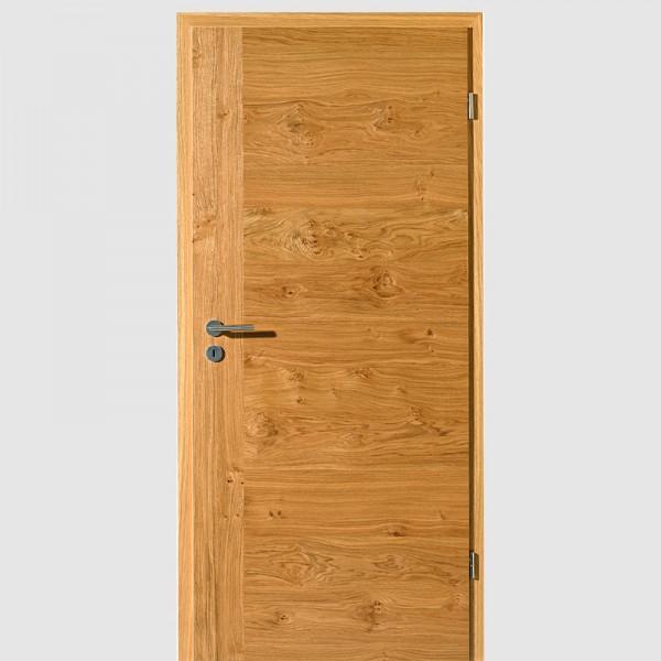 Asteiche Quirin 2 Echtholzfurnierte Innentür / Zimmertür Furnier mit Zarge - Lebo