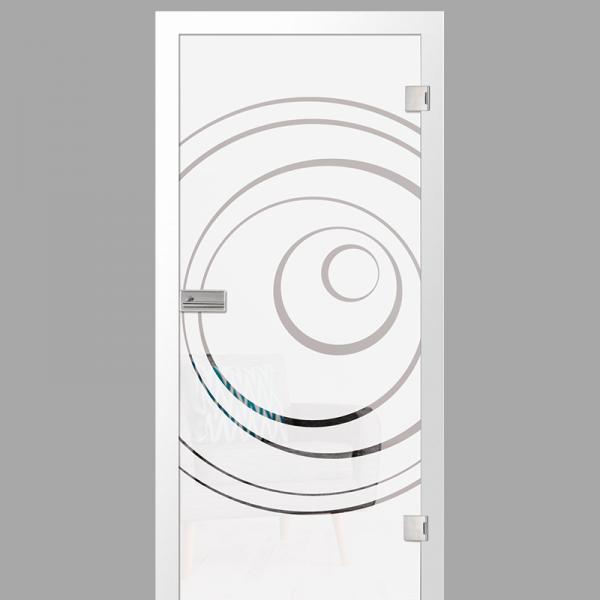 lira Motiv klar - Ganzglastüren / Glastüren mit Zarge Komplettset - Erkelenz