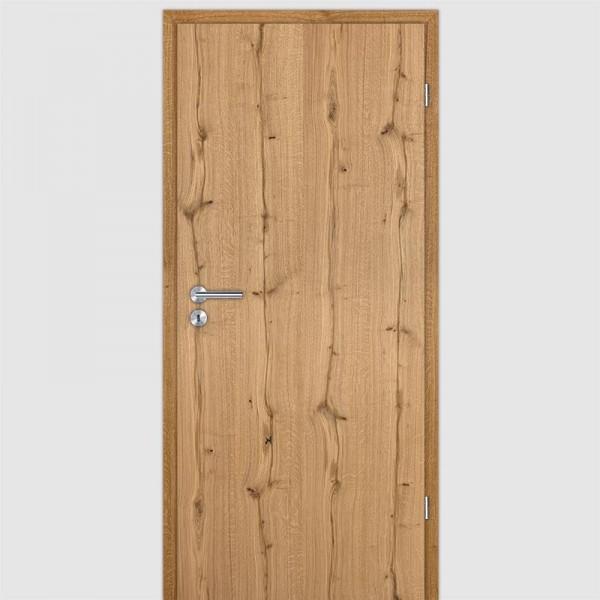 Altholz Eiche geölt Echtholzfurnierte Innentür / Zimmertür Furnier mit Zarge