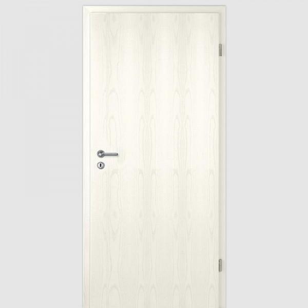 Esche Weiß Innentür / Zimmertür mit Zarge CPL Maserung Aufrecht
